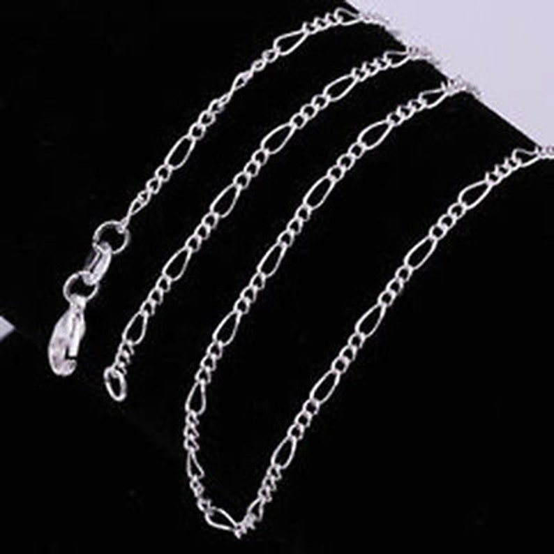 925 sterling silver 20 2mm figaro chain