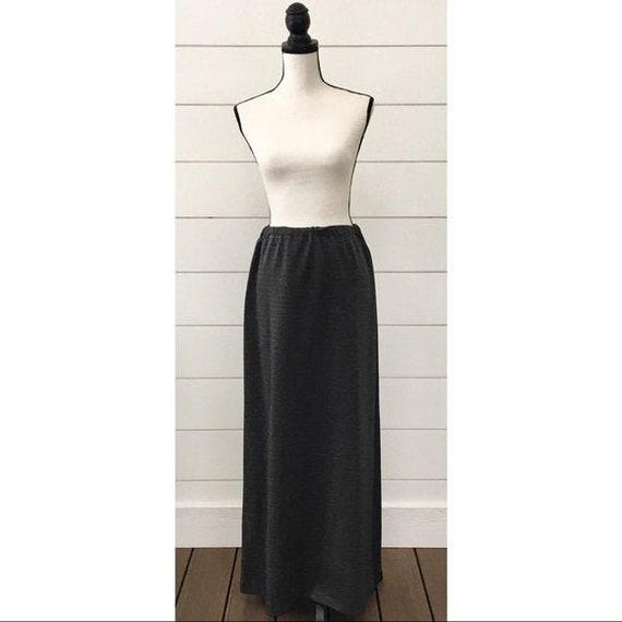 Vintage 1970s | Metallic Maxi Skirt