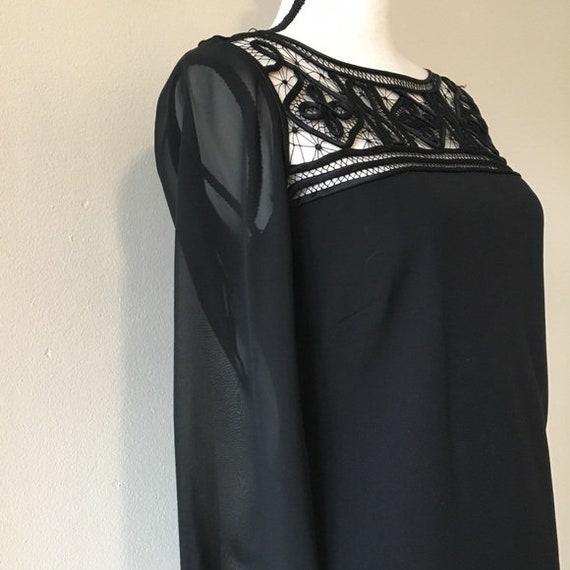Vintage 1990s | Lattice Black Dress - image 3
