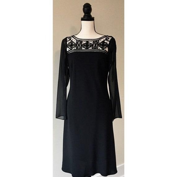 Vintage 1990s | Lattice Black Dress - image 1