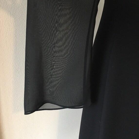 Vintage 1990s | Lattice Black Dress - image 5
