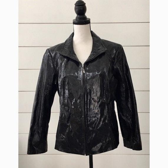Vintage 1990s | Snakeskin Leather Jacket