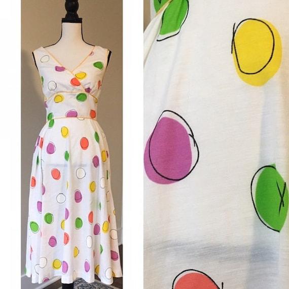 Vintage 1970s does 1950s | Polka Dot Sundress
