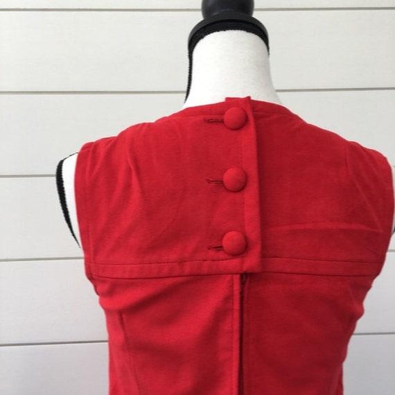 Vintage 1990s | Anna Sui Red Suede Jumper Dress - image 4