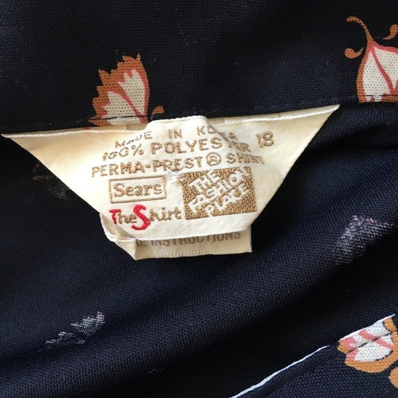 Vintage 1970s   Tulip Print Button Down Shirt - image 4