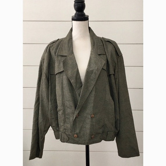 Vintage 1980s does 1950s | Military-Style Jacket.