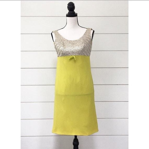 Vintage 1960s | Chartreuse Sequin Dress