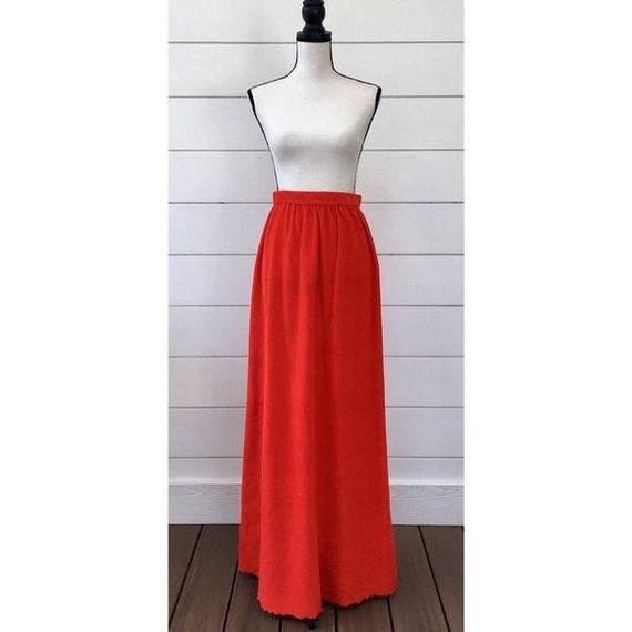 Vintage 1970s   Terrycloth Maxi Skirt