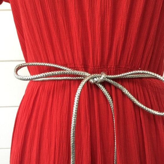 Vintage 1950s   Western Style Red Dress - image 4