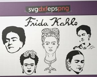 Frida Kahlo clipart Frida Kahlo download Frida Kahlo art Frida Kahlo svg Frida clipart Frida svg Frida Kahlo digital Monogram svg Mexico svg