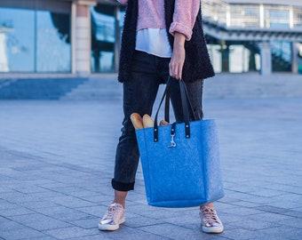 Felt Tote bag,Felt purse,Wool Handbags,School purse,Gift for her,Crossbody Bag,Vegan Bag gift,Laptop Handbag,Felt shoper bag,Women Tote bag