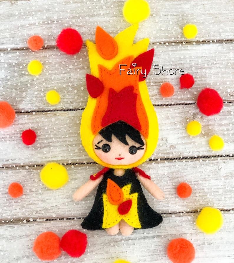 Four elements dolls felt pattern fire and earth felt toy air PDF /& SVG felt sewing pattern for cricut Easy pattern water