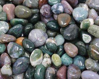 Moss Agate Tumbled Stones: Choose 4 oz, 8 oz or 1 lb Bulk Lots ('A' Grade, Tumbled Moss Agate, Moss Agate Tumbled)