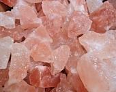 Natural Himalayan Salt Rock Chunks, Bulk Wholesale Lots Large Size (1-2 quot ) Choose How Much (Chunky Crystals, Pink Sea Salt)