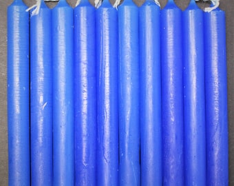 "Royal Blue 4"" Chime Candles - Set of 10 Spell Candles (Spell Candles, Candle Magick, Wicca, Pagan, Altar)"
