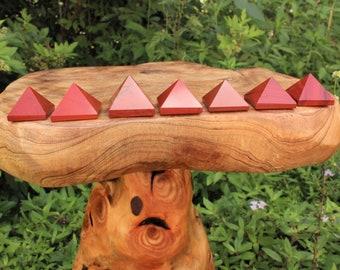 """Red Jasper Crystal Pyramid: Medium 1"""" - 1.25"""" (Crystal Pyramid, Gemstone Pyramid, Stone Pyramid, Red Jasper Pyramid)"""