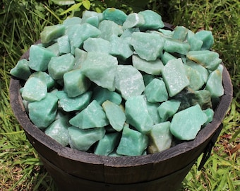 Green Aventurine Rough Natural Stones: Choose 4 oz, 8 oz, 1 lb, 2 lb, 5 lb Bulk Lot ('A' Grade, Green Quartz, Raw Green Aventurine)