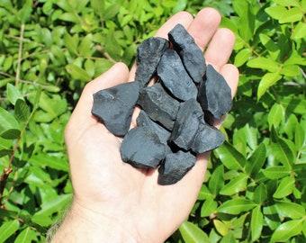 "Shungite Raw Natural Stones 0.75"" - 2"": Choose How Many Pieces (Raw Shungite, Rough Shungite, EMF Protection)"