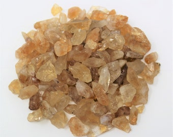 Rough Natural Citrine Chips: Choose 4 oz, 8 oz, 1 lb, 2 lb, 5 lb Bulk Lot (Raw Citrine Chips, Rough Citrine Small Chips)