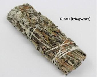 Black Sage Smudge Bundle: Choose 1 2 3 5 10 or 20 Sticks (Mugwort, Sage Bundle, Artemisia Vulgaris)