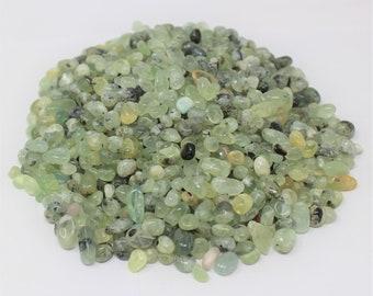 Prehnite Semi Tumbled Gemstone Mini Chips 6 - 8 mm: Choose 2 oz, 4 oz, 8 oz or 1 lb Loose Bulk Lots (Prehnite Chips)