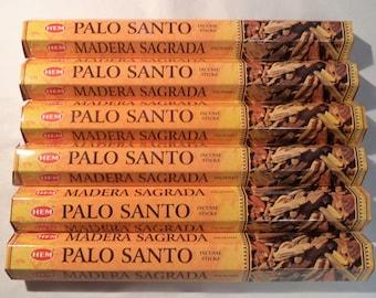 Hem Incense Sticks PALO SANTO - You Pick Amount: 20 40 60 80 100 or 120 Sticks