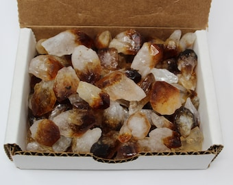 Citrine Points Crystal Collection 1/2 Lb Box (8 oz, Citrine Point, Crystal Point, Quartz Crystal)