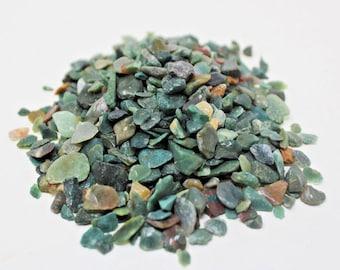 Bloodstone Semi Tumbled Gemstone Mini Chips 5 - 15 mm: Choose 2 oz, 4 oz, 8 oz or 1 lb Loose Bulk Lots (Bloodstone Chips)