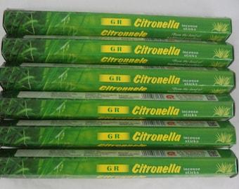 GR Incense Sticks CITRONELLA - You Pick Amount: 20 40 60 80 100 or 120 Sticks