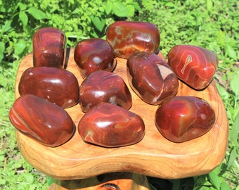 Carnelian Power Stones, Therapy Stone, X Large Palm Stone ('A' Grade, Polished Carnelian)