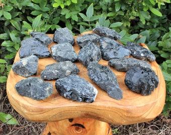 "LARGE Raw Black Tourmaline Crystals, Regular Grade: Choose How Many Pieces (2"" - 3"") (Rough Black Tourmaline, Tourmaline Natural Crystals)"