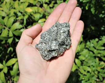 1 EXTRA LARGE Raw Pyrite Rough Natural Crystal Specimen (1 - 2 or 2 - 3 lb) (Raw Pyrite, Natural Pyrite, Rough Pyrite)