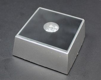 LED Light Base LED Multi Color Changing LED Square Base Selenite Jewel Display