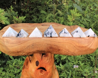 "Rainbow Moonstone Pyramid, Medium 1"" - 1.25"" (Crystal Pyramid, Gemstone Pyramid, Stone Pyramid, Carved Pyramid)"