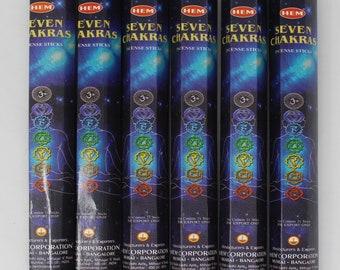Hem Incense Sticks 7 Chakra - You Pick Amount: 20 40 60 80 100 or 120 Sticks (Seven Chakra)