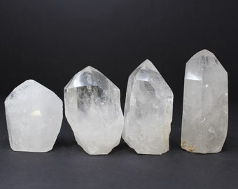 EXTRA LARGE Clear Quartz Crystal Point with Cut Base: Choose Size (Crystal Points, Clear Quartz, Quartz Point, Clear Quartz Point)