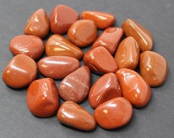 Red Jasper Tumbled Stones: Choose How Many Pieces ('A' Grade, Red Jasper, Jasper, Polished Red Jasper)