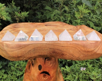 "Clear Quartz Crystal Pyramid, Medium 1"" - 1.25"" (Crystal Pyramid, Gemstone Pyramid, Stone Pyramid, Carved Pyramid)"