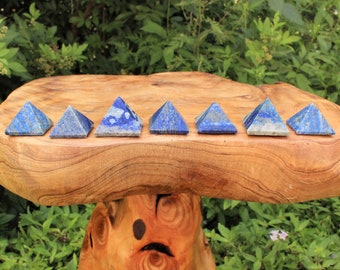 "Lapis Crystal Pyramid: Medium 1"" - 1.25"" Polished Gemstone (Lapis Pyramid)"