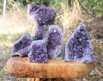 "Amethyst Cut Base Clusters, CLEARANCE Quality Crystal Quartz Geodes ""B"" Grade, Crazy Cheap"