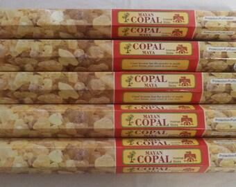 Mayan Copal Incense Sticks: 5 x 15 Stick Packs, Total 75 Sticks