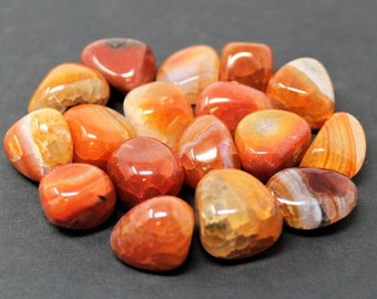 Fire Agate Tumbled Stones: Choose How Many Pieces ('A' Grade, Tumbled Fire Agate, Healing Crystals)