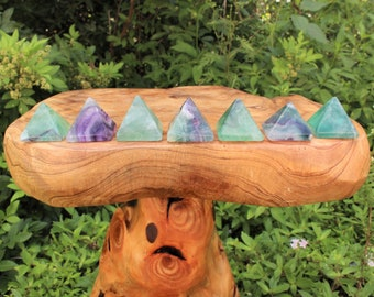 "Fluorite Crystal Pyramid: Medium 1"" - 1.25"" Polished Gemstone (Fluorite Pyramid)"