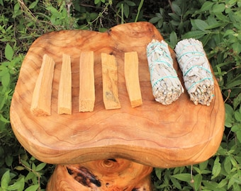 White Sage + Palo Santo Bundle: 5 Palo Santo Wood & 2 White Sage Smudge Sticks, Cleansing Negativity Removal (7 Stick SAMPLER, Incense)