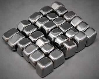 Small MAGNETIC Hematite Tumbled Stones: Choose 4 oz, 8 oz or 1 lb Bulk Lots (Small Hematite, Tumbled Magnetic Hematite, Palm Stone)