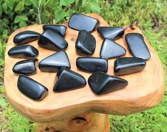 """Polished Shungite Stones, Freeform HUGE 2"""" - 3.25"""" Pieces: Choose How Many (Polished Shungite, Shungite Free Form, EMF Protection)"""
