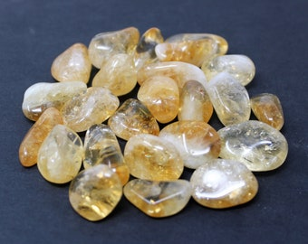 Citrine Tumbled Stones: Choose How Many Pieces ('A' Grade, Tumbled Citrine, Healing Crystals)
