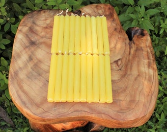 """Yellow 4"""" Chime Candles - Set of 10 Spell Candles (Spell Candles, Candle Magick, Wicca, Pagan, Altar)"""