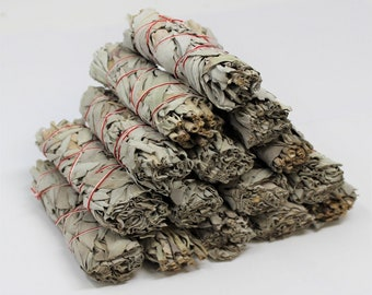 White Sage Smudge Sticks: Choose 1 2 3 5 10 20, 50, 100 or More! (Sage Bundle, Smudge Stick, Energy Cleansing Bundle)
