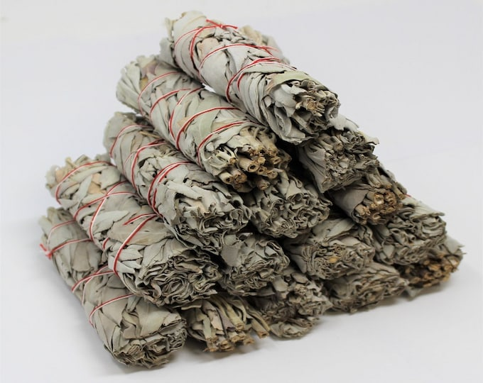 Featured listing image: White Sage Smudge Sticks: Choose 1 2 3 5 10 20, 50 or 100 (Sage Bundle, Smudge Stick, Energy Cleansing Bundle)